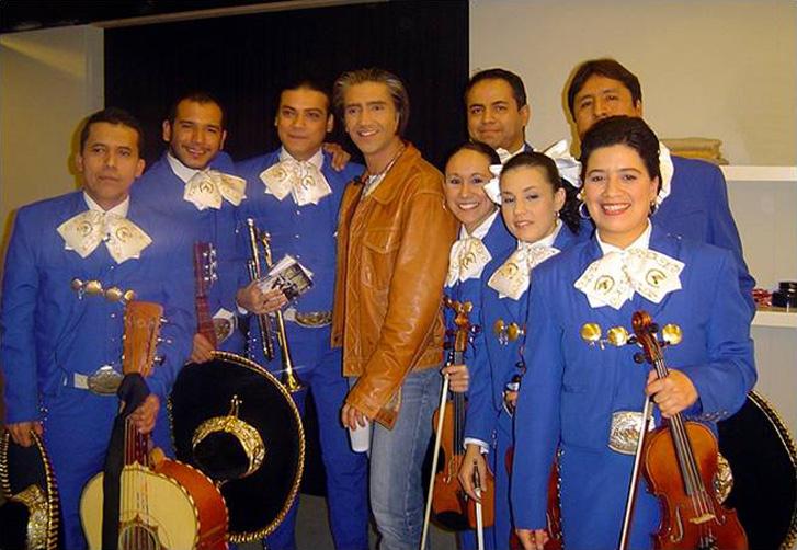 Con Alejandro Fernández en Cuatro TV
