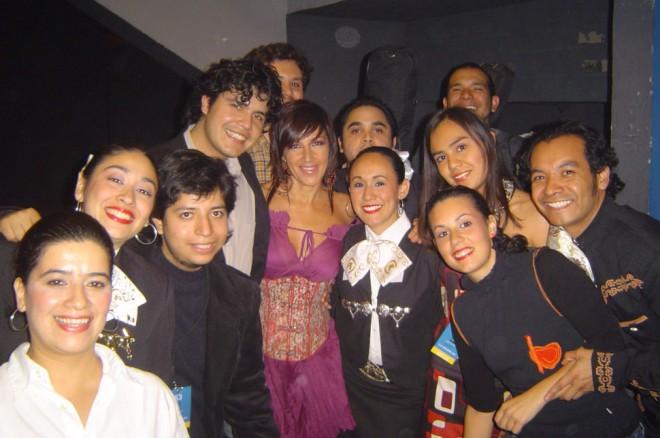 Con la cantante Ana Torroja