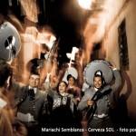Mariachi Semblanza en formación Pasacalles en el Borne