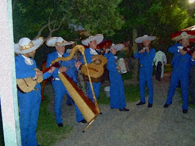 El Mariachi semblanza de azul