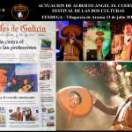 """Alberto Ángel """"el cuervo"""" cantando en el festival"""