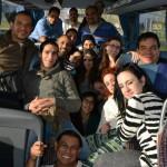 En el bus de ida