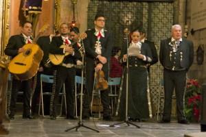 presentación  en la celebración de la Virgen de guadalupe